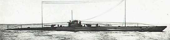 Photo of the U-139-140 class WWI german uboat from U-Boat.net