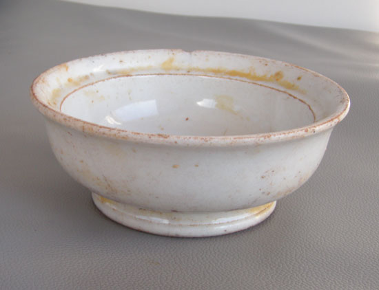 Small china bowl recoverd from Manuela Oct 2011 by diver Charlie Bullis - DiveHatteras photo
